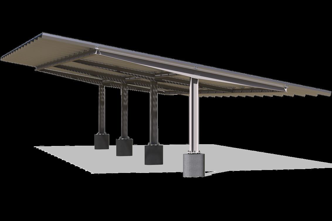 T-Shaped Bifacial Carport for max bifacial gains