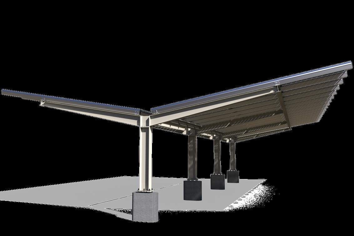 Y-Shape offers maximum solar panels and bifacial gains per column