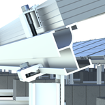 Tilt-setting clamps with threads, in order to remove the need of a nut and a tool (wrench)