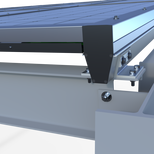 V-Shaped rails with integrated wire and water-management