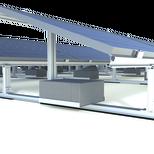 Système de plateaux d'aluminium solide pour supporter les blocs de ballastes