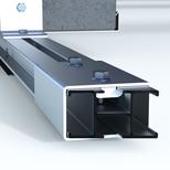 Nouveau linker pour les rails de base, plus solide, 360 degrés, en aluminium